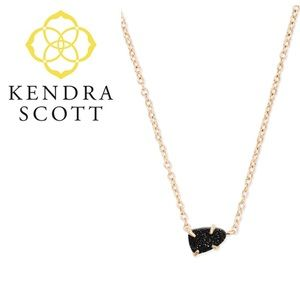 Kendra Scott Helga Necklace in Black Drusy